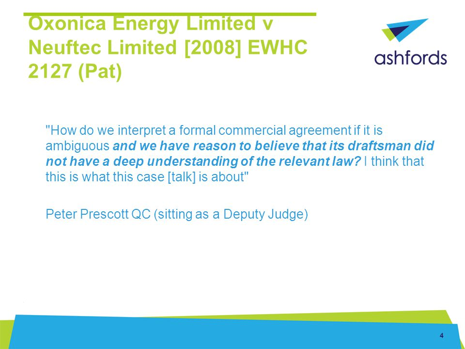 Oxonica Energy Limited v Neuftec Limited [2008] EWHC 2127 (Pat)